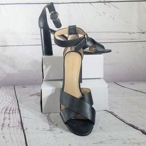 Ann Taylor Black Leather Sandals